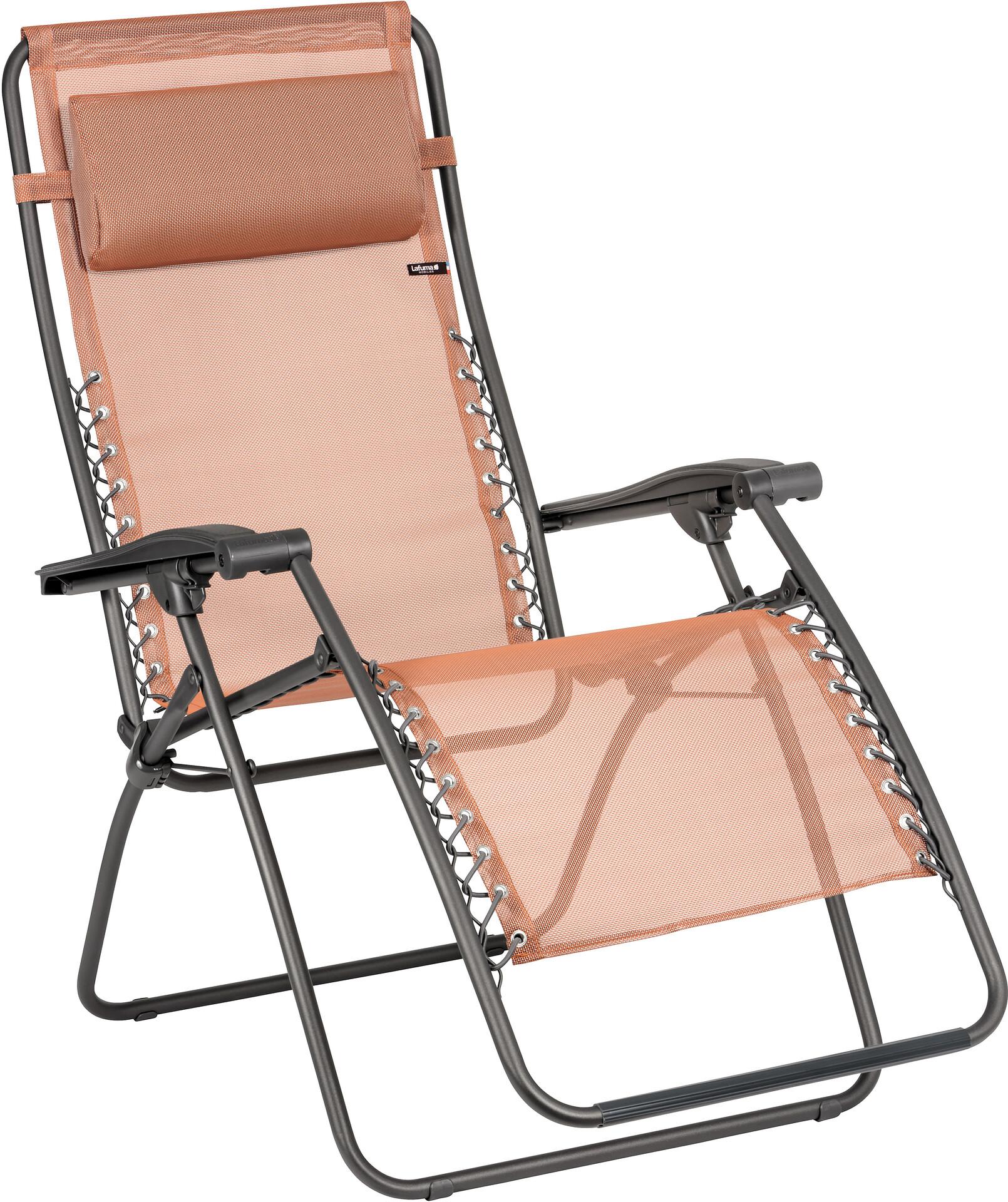 Lafuma Mobilier RSXA Chaise longue avec Cannage Phifertex, terracotta